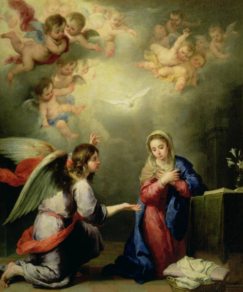 Holy Spirit Photograph - The Annunciation by Bartolome Esteban Murillo