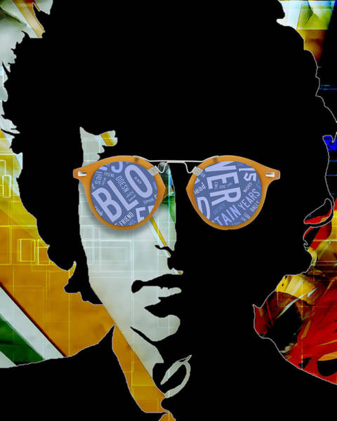 Folk Singer Mixed Media - The Answer Is Blowin' In The Wind. Bob Dylan by Marvin Blaine