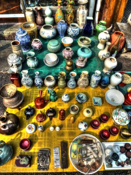 Wall Art - Photograph - The Antique Market by Michael Garyet