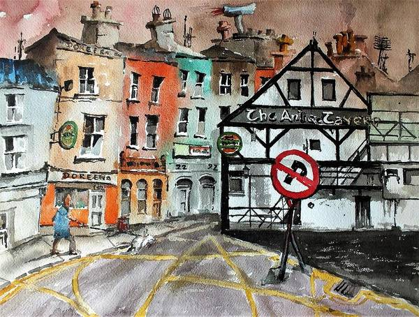 Painting - The Antique Tavern Enniscorthy by Val Byrne