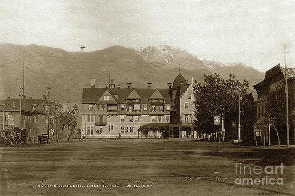Photograph - The Antler Hotel, Colorado Springs by California Views Archives Mr Pat Hathaway Archives