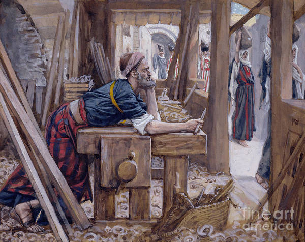 Wall Art - Painting - The Anxiety Of Saint Joseph by James Jacques Joseph Tissot