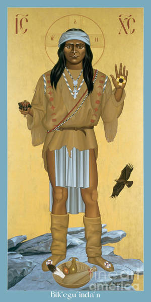 Painting - The Apache Christ - Rlapc by Br Robert Lentz OFM