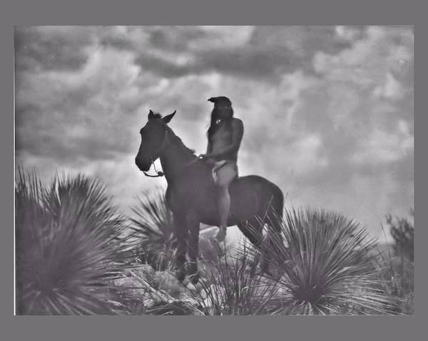 Digital Art - The Apache Scout by John Feiser