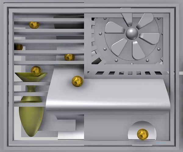 Digital Art - The Apartment With Gold Balls by Alberto  RuiZ