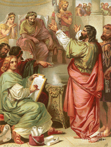 Wall Art - Painting - The Apostle Paul Before Felix by English School