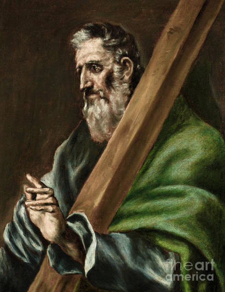 Wall Art - Painting - The Apostle Saint Andrew by El Greco