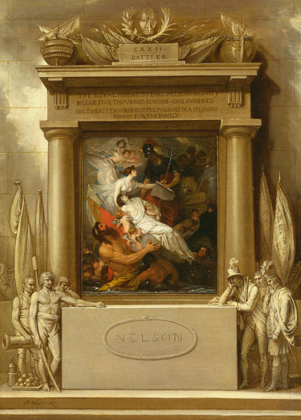 Painting - The Apotheosis Of Nelson by Benjamin West