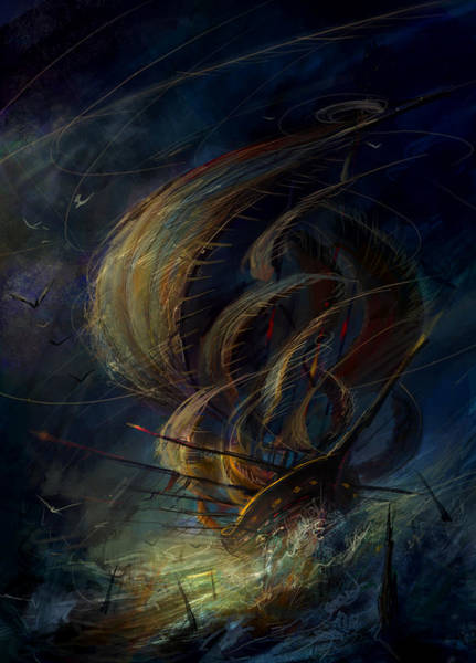 Wall Art - Painting - The Apparation by Philip Straub