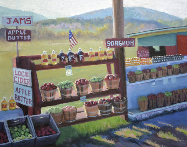 Wall Art - Painting - The Apple Stand by Armand Cabrera