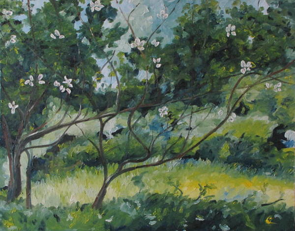 Wall Art - Painting - The Apple Tree With Long Branches by Francois Fournier