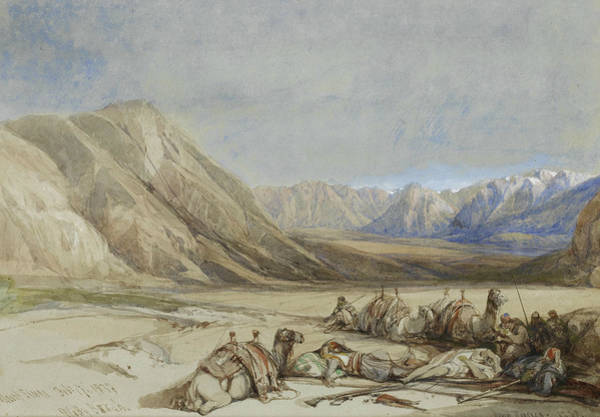 Painting - The Approach To Mount Sinai by David Roberts