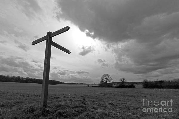 Photograph - The Approaching Storm Epsom Surrey Uk by Julia Gavin