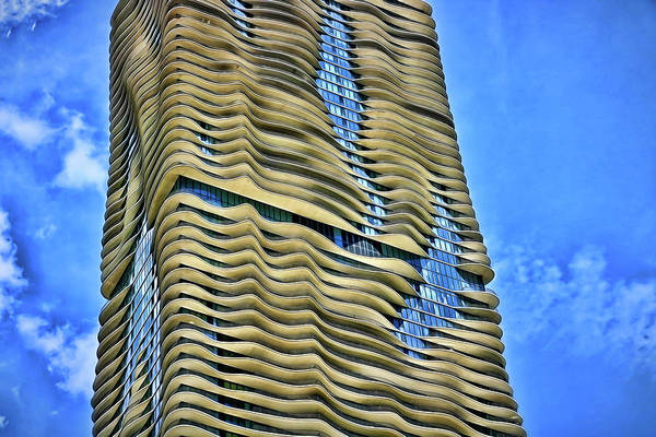 Photograph - The Aqua Building # 7 - Chicago by Allen Beatty