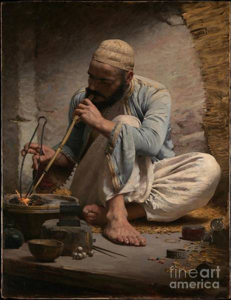 Painting - The Arab Jeweler by Celestial Images