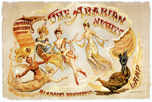 Wall Art - Digital Art - The Arabian Nights Burlesque by Vintage Treasure