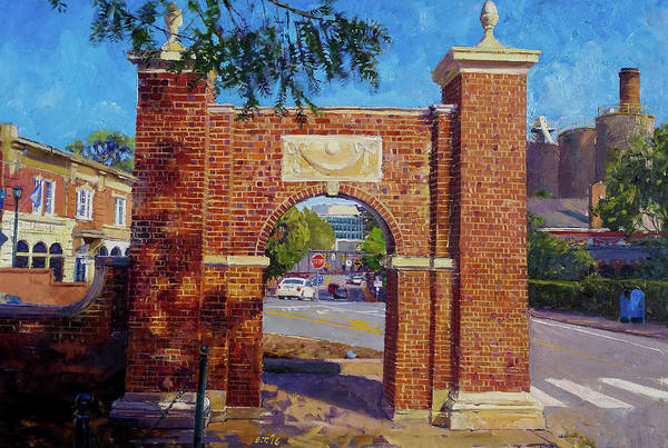 Wall Art - Painting - The Arch At The Corner by Edward Thomas