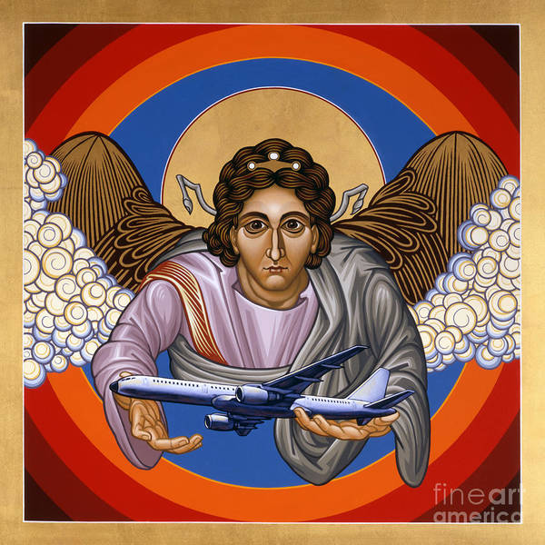Painting - The Archangel Raphael - Lwrap by Lewis Williams OFS