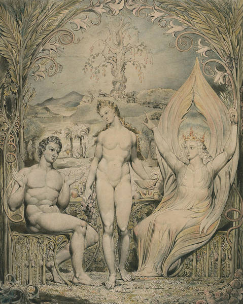Painting - The Archangel Raphael With Adam And Eve  by William Blake