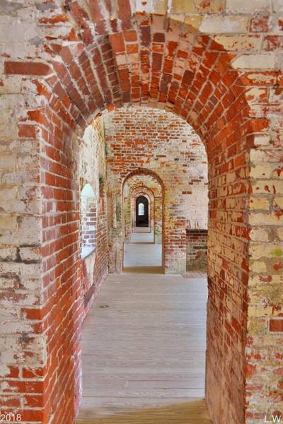 Battle Of The Atlantic Wall Art - Photograph - The Arches At Fort Macon North Carolina by Lisa Wooten