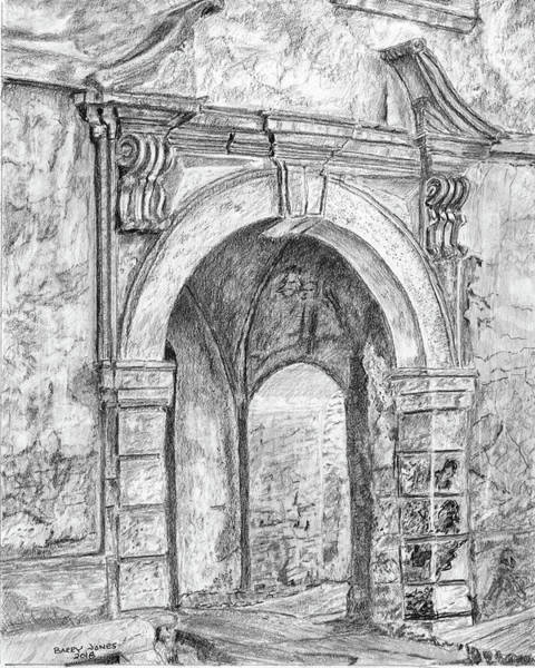 Drawing - The Arches by Barry Jones
