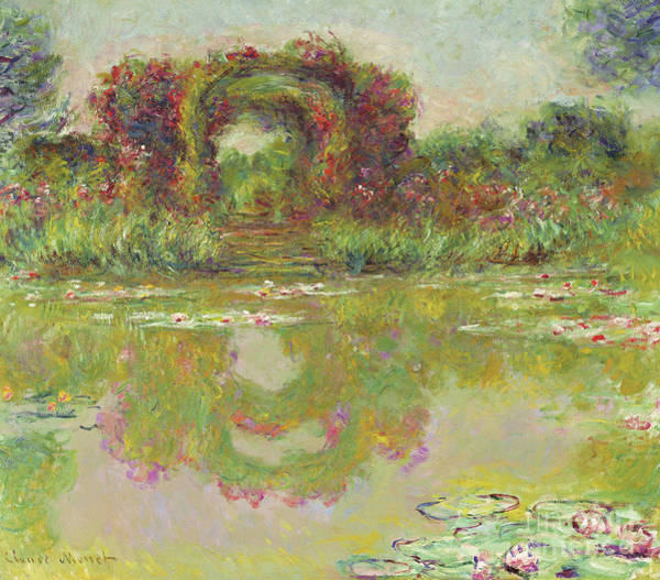 Wall Art - Painting - The Arches Of Roses, Giverny, The Flowering Arches, 1913  by Claude Monet