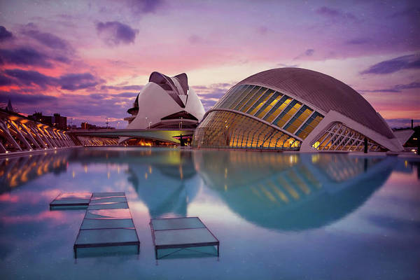 Arte Photograph - The Architecture Of Modern Valencia Spain  by Carol Japp