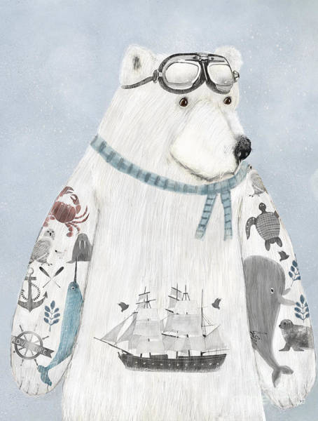 Wall Art - Painting - The Arctic Explorer by Bri Buckley