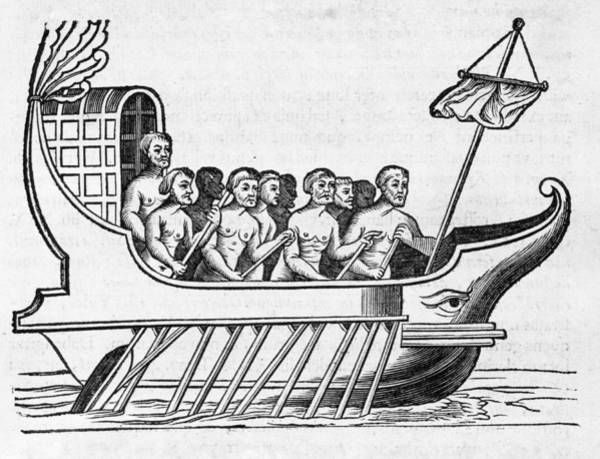 Rowing Photograph - The Argo, 17th Century Artwork by Middle Temple Library
