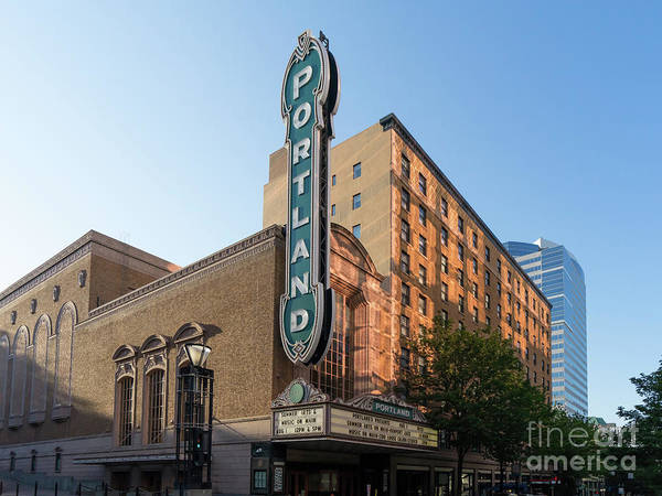 Photograph - The Arlene Schnitzer Concert Hall Aka Portland Publix Theater Aka Paramount Theatre Dsc6404 by Wingsdomain Art and Photography