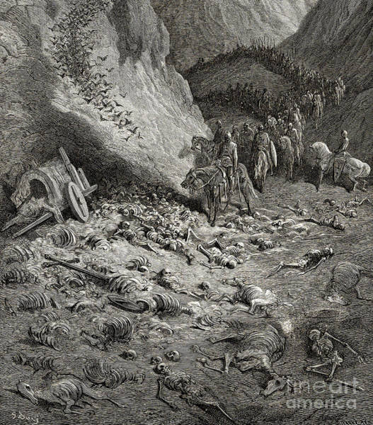 The Army Of The Second Crusade Find The Remains Of The Soldiers Of The First Crusade Art Print