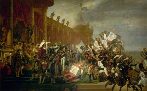 Painting - The Army Takes An Oath To The Emperor After The Distribution Of Eagles, 5 December 1804 by Jacques-Louis David