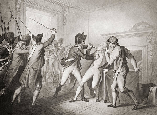 Wall Art - Drawing - The Arrest Of Robespierre. Maximilien by Vintage Design Pics