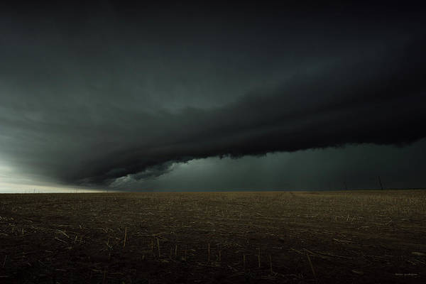 Shelf Cloud Photograph - The Arrival by Brian Gustafson
