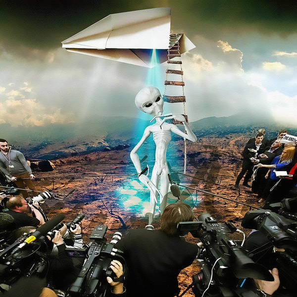 Ufo Digital Art - The Arrival by Marian Voicu