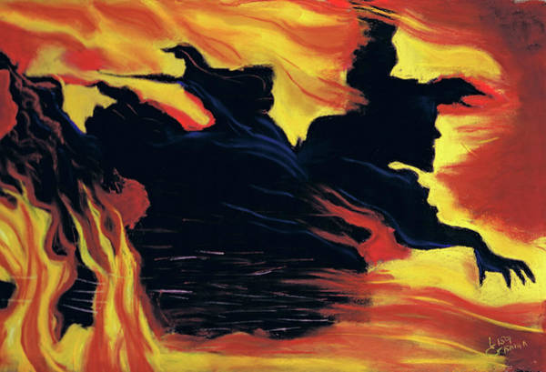 Painting - The Arrival Of The Wicked by Lisa Crisman