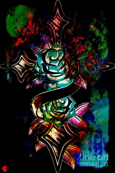 Painting - The Art Of A Tattoo  by Catherine Lott