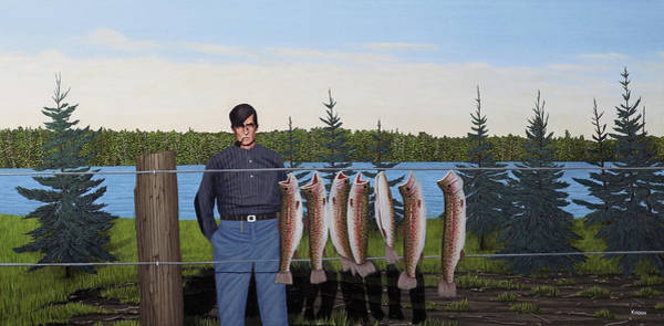 Painting - The Art Of Fishing Tom Thomson And His Group Of Seven by Kenneth M Kirsch