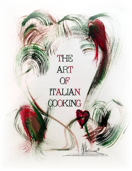 Painting - The Art Of Italian Cooking 2 by Marian Palucci-Lonzetta