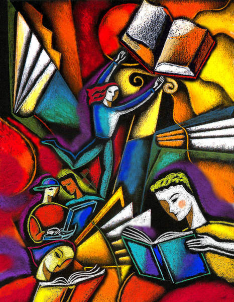 Wall Art - Painting - The Art Of Learning by Leon Zernitsky