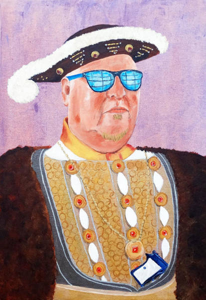 Crown Imperial Painting - The Artist As Henry The Viiith by Kevin Callahan
