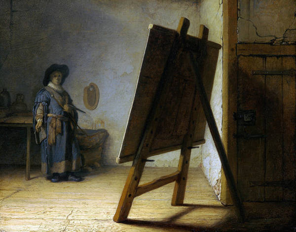 Painting - The Artist In His Studio by Rembrandt