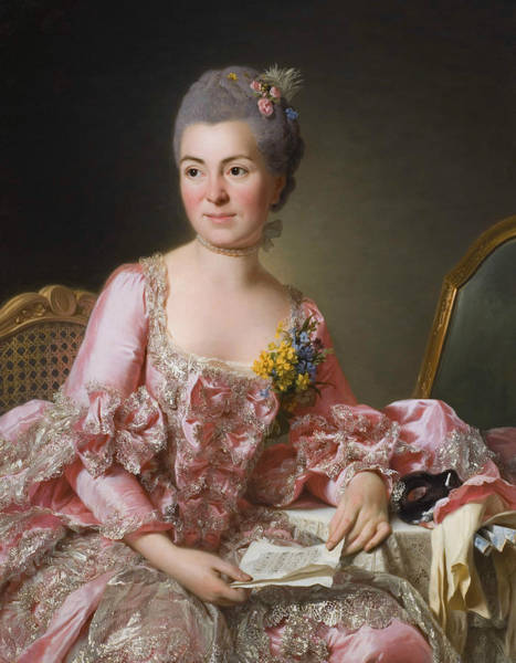 Painting - The Artist Marie Suzanne Giroust by Alexander Roslin
