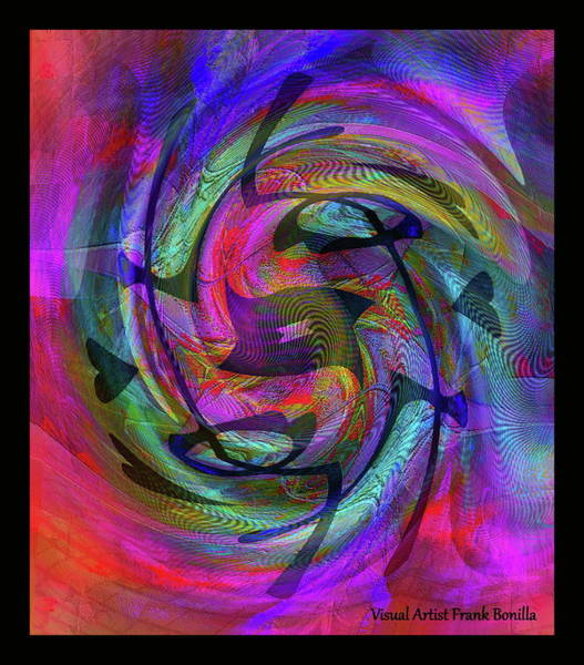 Digital Art - The Artist   Self Portrait by Visual Artist Frank Bonilla