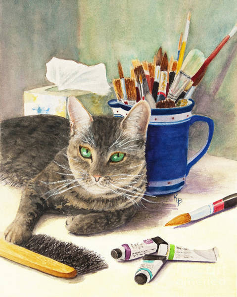Painting - The Artiste by Karen Fleschler