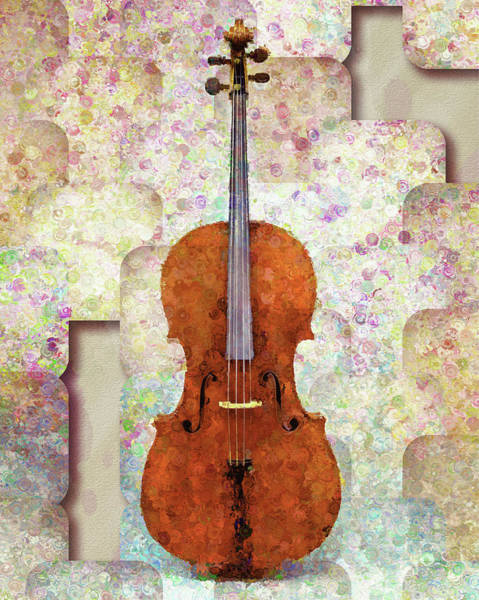 Mixed Media - The Artist's Cello by Isabella Howard