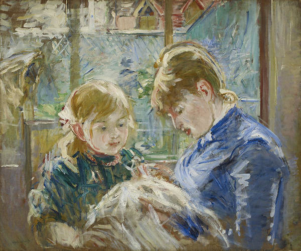 Painting - The Artist's Daughter, Julie, With Her Nanny by Berthe Morisot