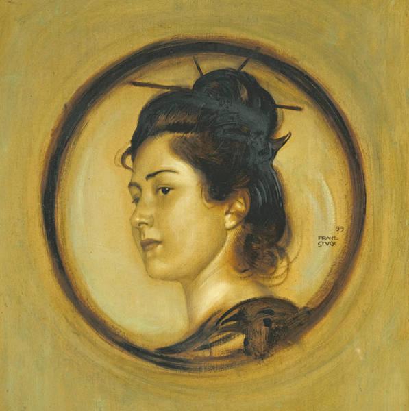 Franz Von Stuck Painting - The Artist's Daughter Marie A La Japonnaise by Franz von Stuck
