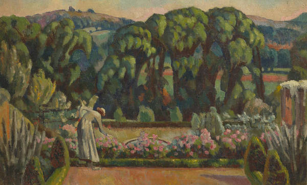 Wall Art - Painting - The Artist's Garden At Durbins, Guildford by Roger Fry