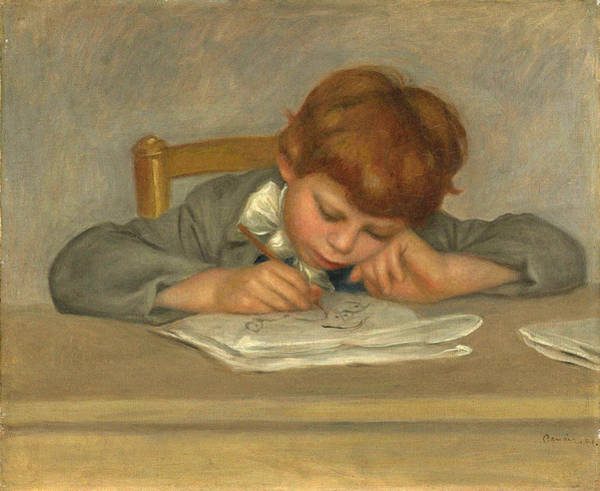 Wall Art - Painting - The Artists Son, Jean, Drawing, 1901 by Auguste Renoir